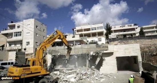 تخریب خانه های فلسطینیان همچنان ادامه دارد