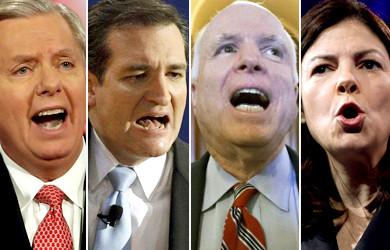 چهار سناتور آمریکایی به دنبال افزایش کمک های آمریکا به اسرائیل