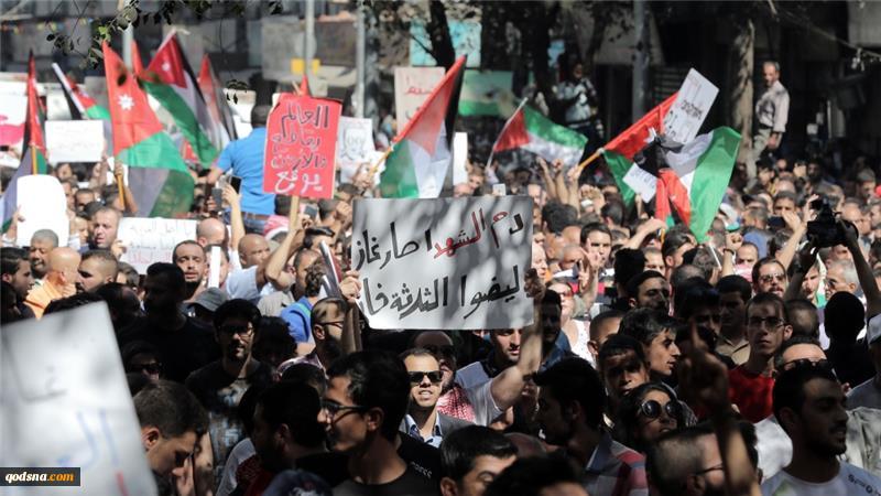 تظاهرات در اردن در اعتراض به توافقنامه گاز با اسرائیل