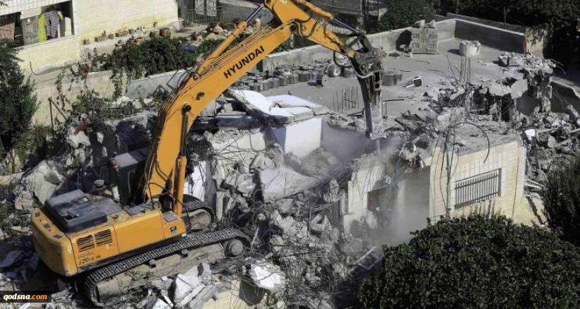 تخریب منزل یک فلسطینی در قدس