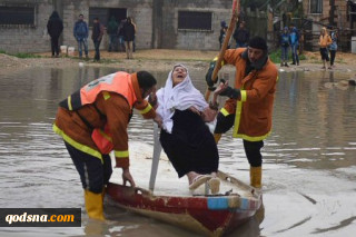 Gazans Struggle to Cope with Heavy Rains as Threat of War Escalates