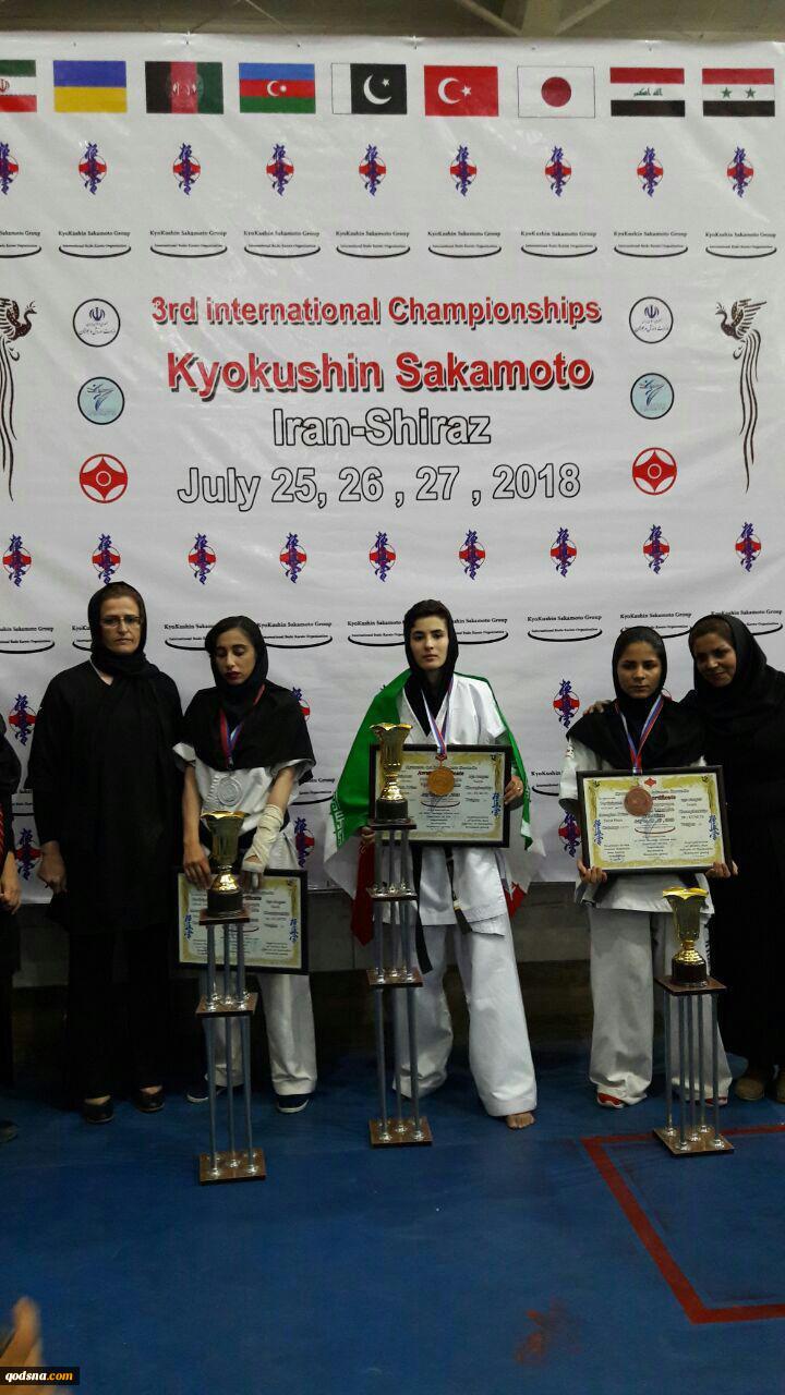 در رقابتهای بین المللی ۲۰۱۸کیوکوشین کاراته ساکاموتو فدراسیون کاراته در بخش بانوان: شاخه ورزشی جمعیت دفاع از ملت فلسطین مقام دوم را کسب کرد 2