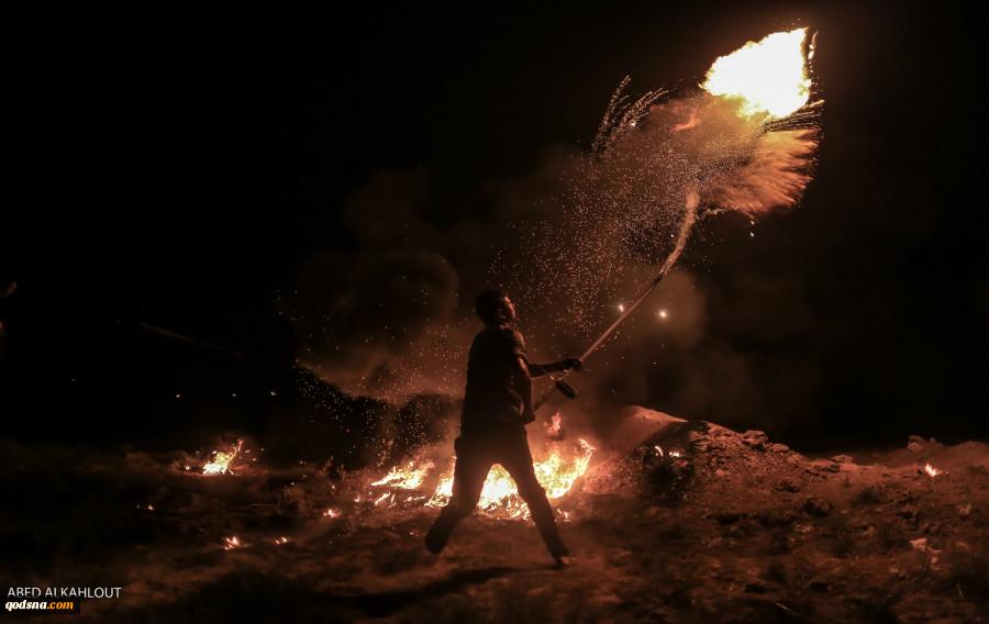 راهپیمایی شبانه مردم غزه نقطه ضعف جدید ارتش رژیم صهیونیستی+ تصاویر  2