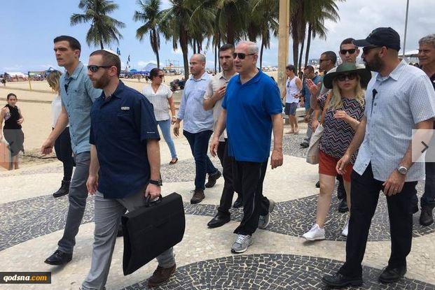 شبکه 10 تلویزیون عبری گزارش داد:  خشم مردم برزیل از مانع بازدید نتانیاهو از تندیس مسیح شد سردادن شعار و بوق ممتد رانندگان علیه نخست وزیر اسرائیل+ تصاویر 6