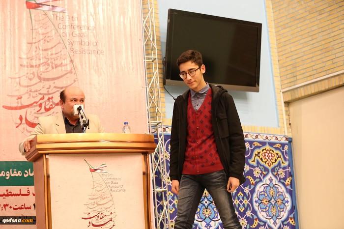 تجلیل از «آرین غلامی» شطرنج باز جوان کشورمان در نهمین همایش غزه نماد مقاومت+ تصاویر 4