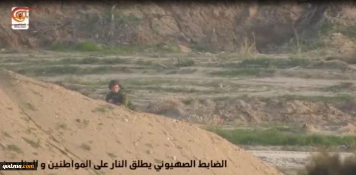 یک هفته پیش در مرزهای شرقی غزه رخ داد:  گروهانهای قدس فیلم عملیات هدف قرار دادن نظامی صهیونیست را منتشر کرد+ تصاویر و فیلم 3