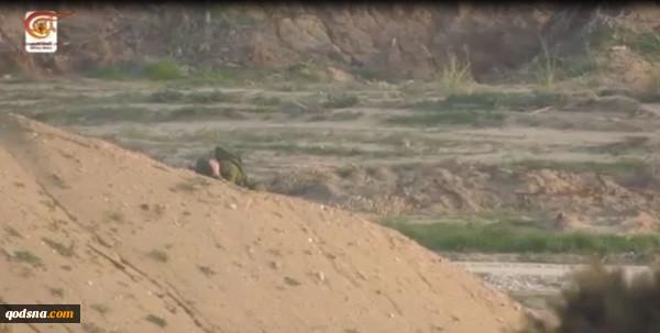 یک هفته پیش در مرزهای شرقی غزه رخ داد:گروهانهای قدس فیلم عملیات هدف قرار دادن نظامی صهیونیست را منتشر کرد+ تصاویر و فیلم 4