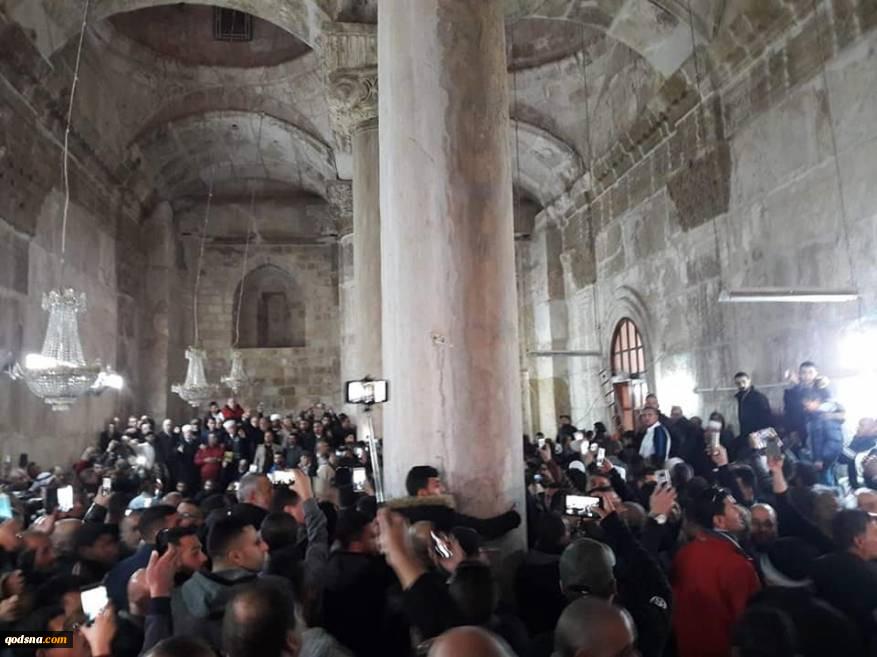 همزمان با راهپیمایی بازگشت؛پس از 16 سال فلسطینیان درب شرقی مسجد الاقصی را بازگشایی کردند 3